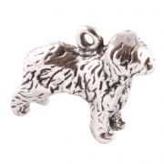 Old English Sheepdog 3D Sterling Silver Charms